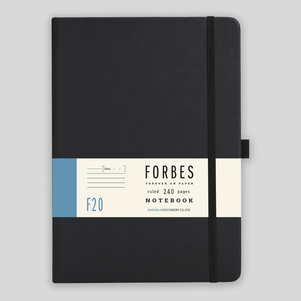 Black Lined Notebook A5