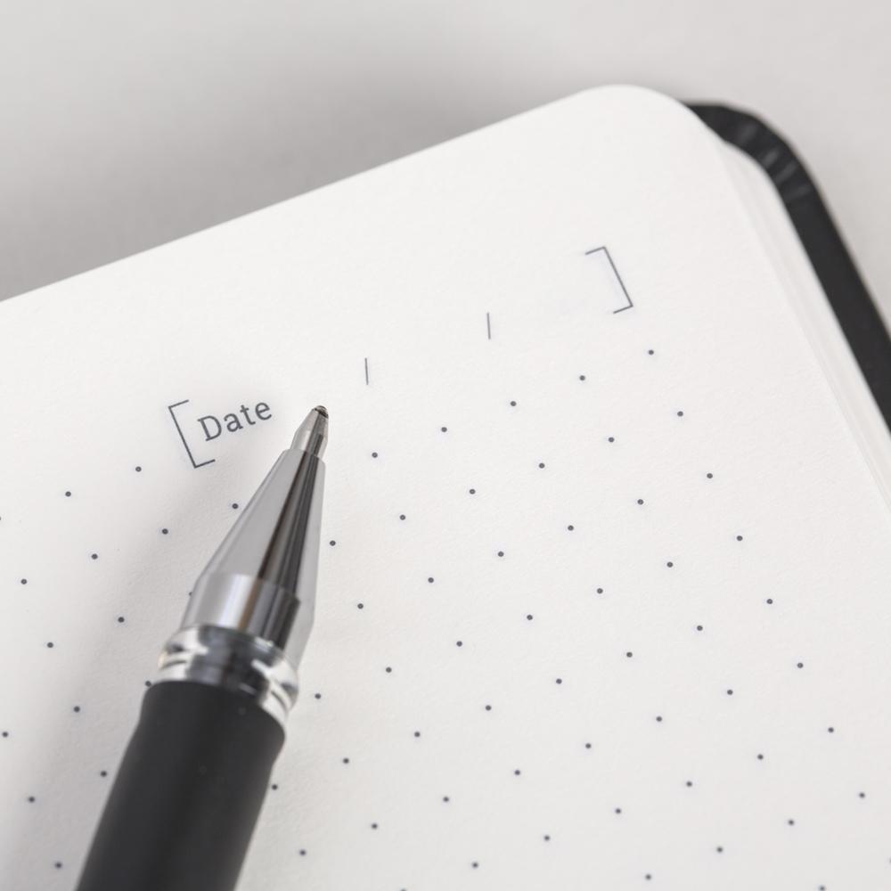 Bullet journal notebook