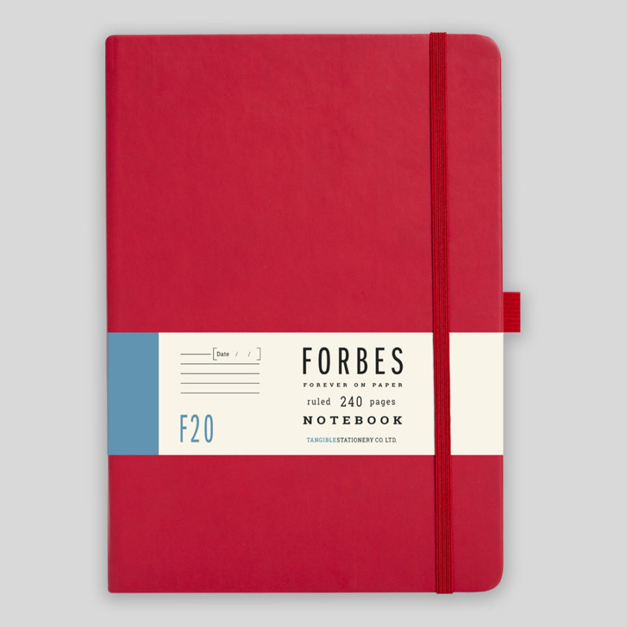 Red Lined Notebook A5