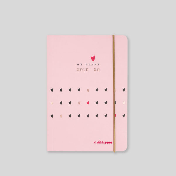 Matilda MOO 2019-20 Flex Cover A6 Daily Diary – Pink – MOO110-01D