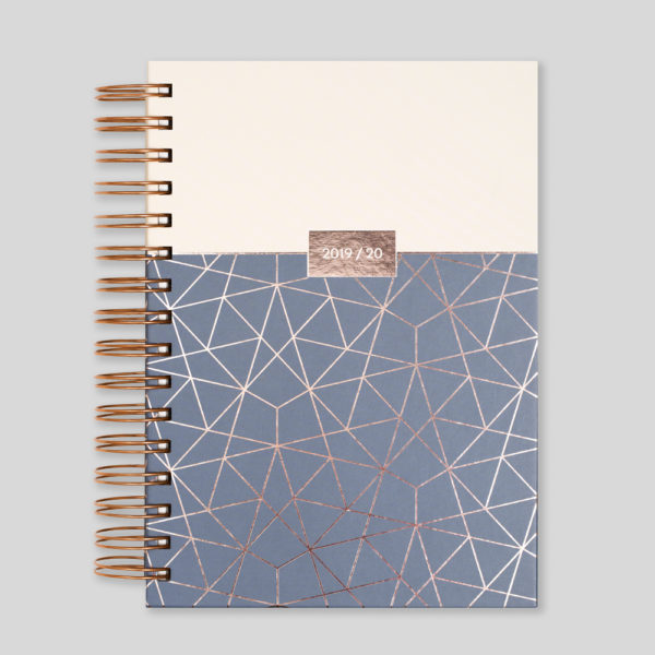 Matilda Myres 2019-20 Rose Gold Wiro A5 Daily Mid Year Diary – Ivory – MY105-03D
