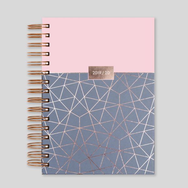 Matilda Myres 2019-20 Rose Gold Wiro A5 Daily Mid Year Diary – Pink – MY105-01D
