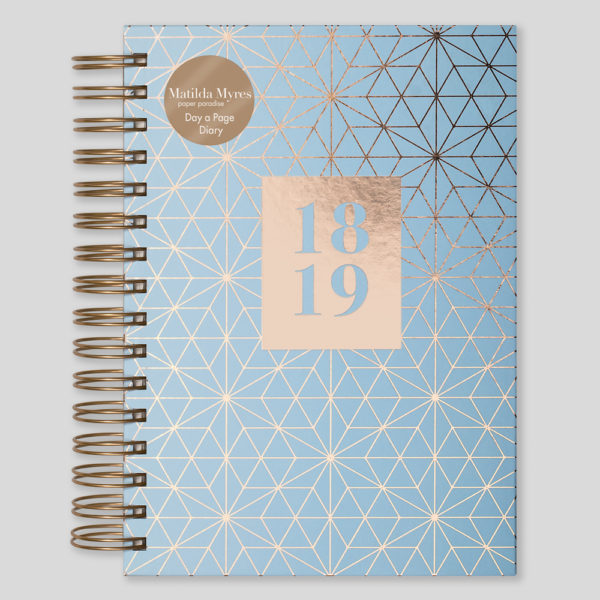 Matilda Myres 2018-19 Rose Gold Wiro A5 Daily Diary – Mint – MY105-02