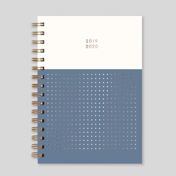 Matilda Myres 2019-20 Rose Gold Wiro Weekly Mid Year Diary – Grey – MY105-03W