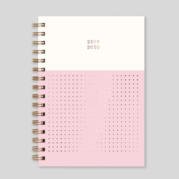 Matilda Myres 2019-20 Rose Gold Wiro Weekly Mid Year Diary – Pink – MY105-01W