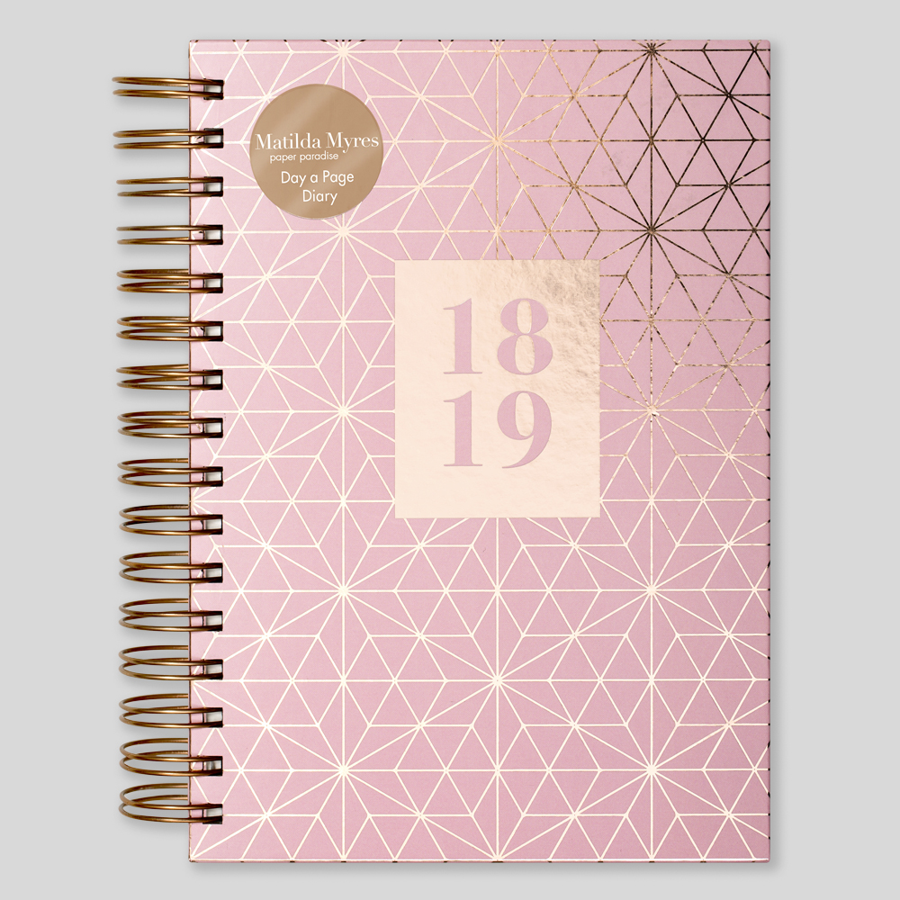 Pink Mid Year Diary