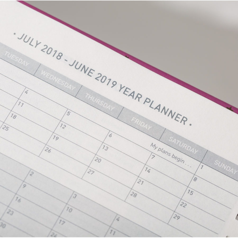 Year Planners in Diary
