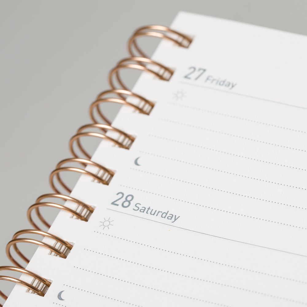 Modern 2019 2020 Mid Year Diary: 2019 2020 Week On Two Pages Diary Rose Gold Wiro