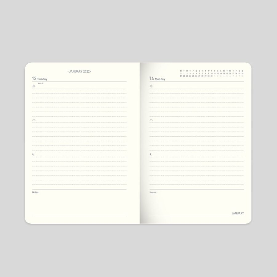 2021-22 A6 Day a Page Diary Matilda Myers