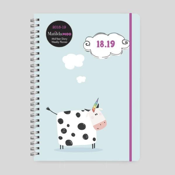 Matilda MOO 2018-19 Polyprop A5 Weekly Diary – Moonicorn – MOO105-01