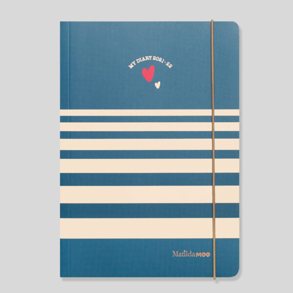 Matilda MOO 2021-22 Flex Cover A5 Weekly Mid Year Diary – Blue - MOO100-02W