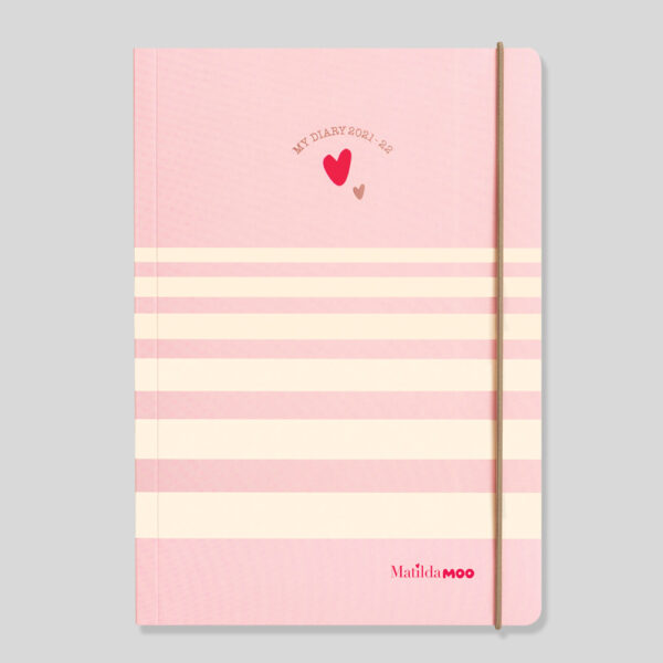 Matilda MOO 2021-22 Flex Cover A5 Weekly Mid Year Diary – Pink – MOO100-01W