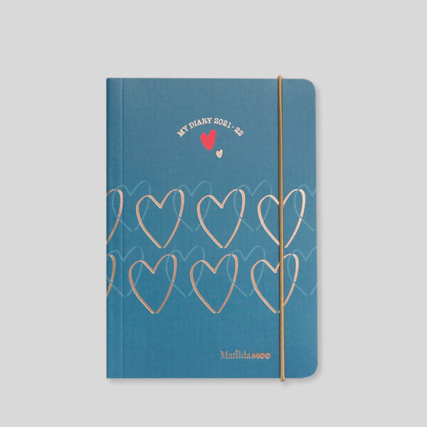 Matilda MOO 2021-22 Flex Cover A6 Daily Mid Year Diary – Blue – MOO110-02D