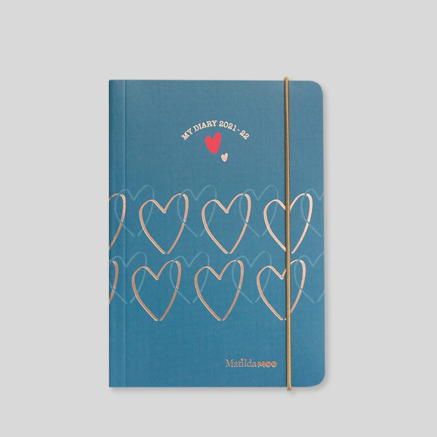 2021-2022 A6 Day Diary - Mid Year - Blue