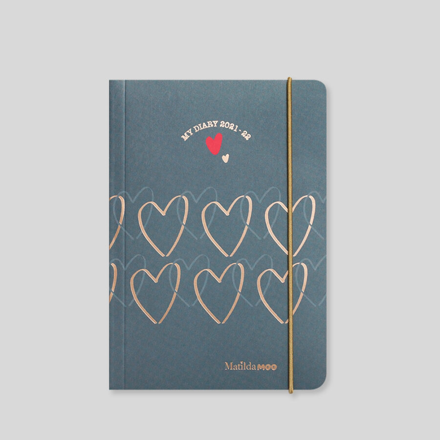 2021-2022 A6 Day Diary - Mid Year - Grey