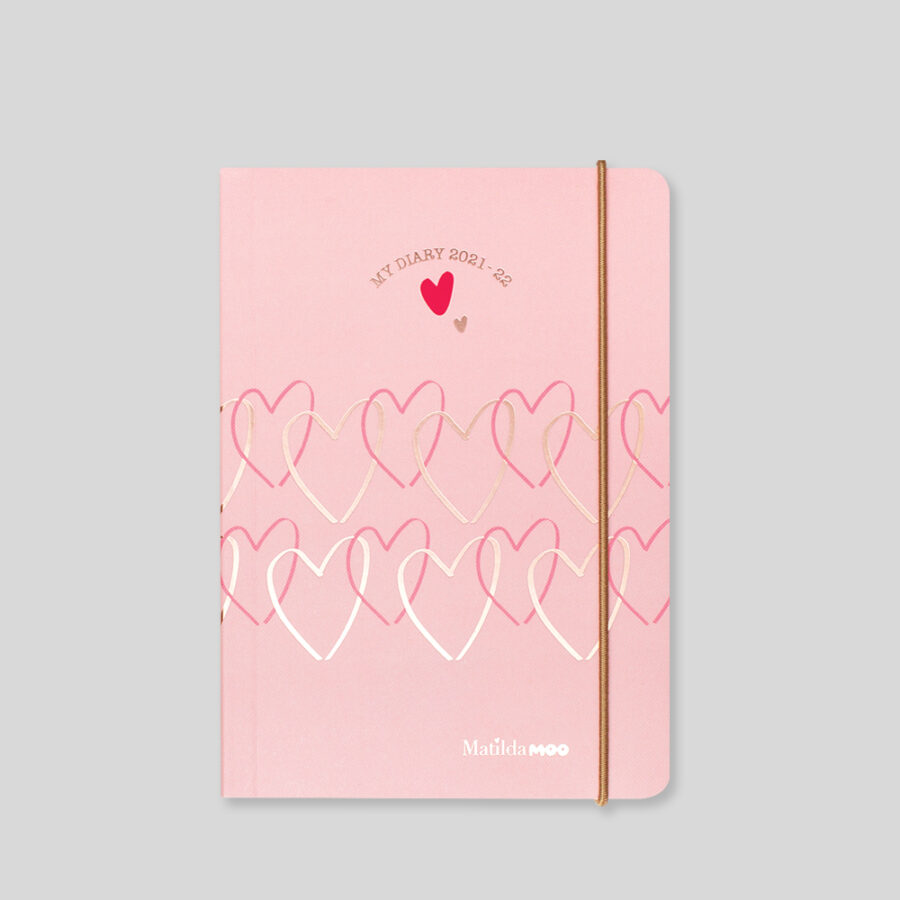 2021-2022 A6 Day Diary - Mid Year - Pink