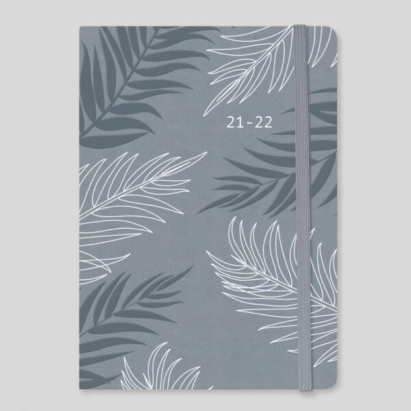 Matilda Myres 2021-22 Floral Soft Touch A5 Daily Mid Year Diary – Grey – MY100-01D