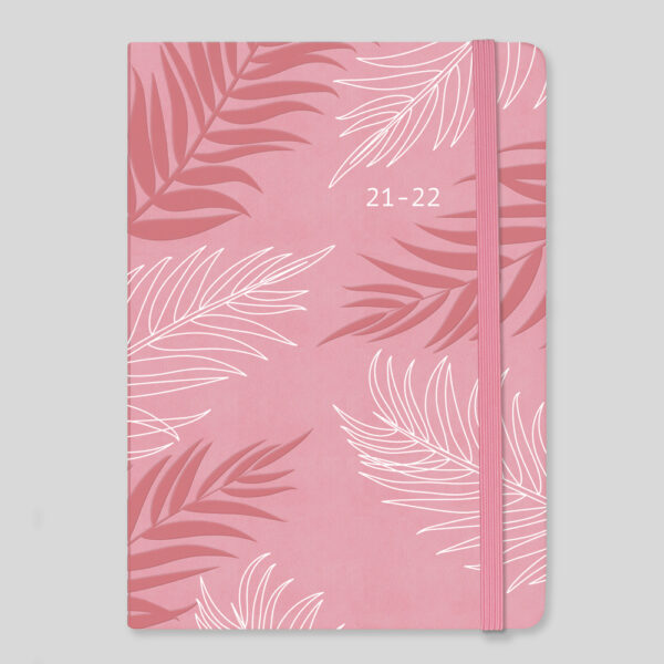 Matilda Myres 2021-22 Floral Soft Touch A5 Weekly Mid Year Diary – Pink – MY100-03W