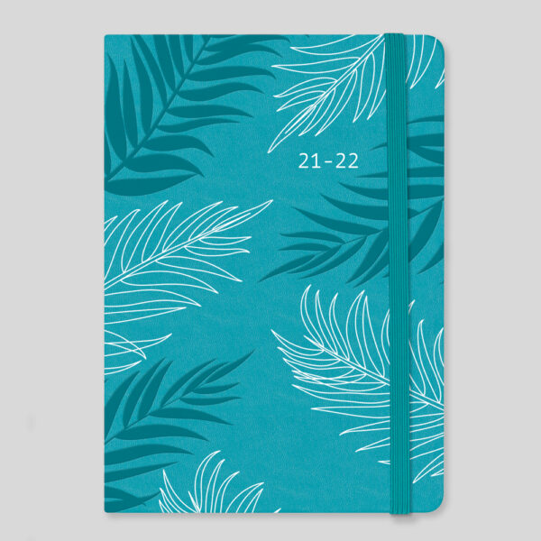 Matilda Myres 2021-22 Floral Soft Touch A5 Weekly Mid Year Diary – Teal – MY100-02W