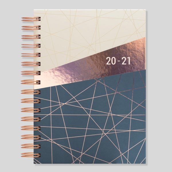 Matilda Myres 2020-21 Rose Gold Wiro A5 Daily Mid Year Diary – Ivory – MY105-03D