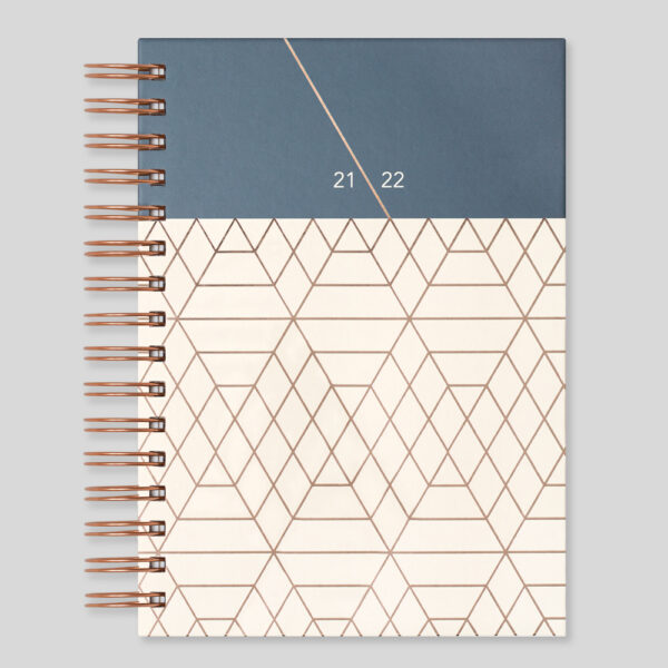 Matilda Myres 2021-22 Rose Gold Wiro A5 Daily Mid Year Diary – Ivory – MY105-03D