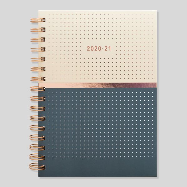 Matilda Myres 2020-21 Rose Gold Wiro Weekly Mid Year Diary – Grey – MY105-03W