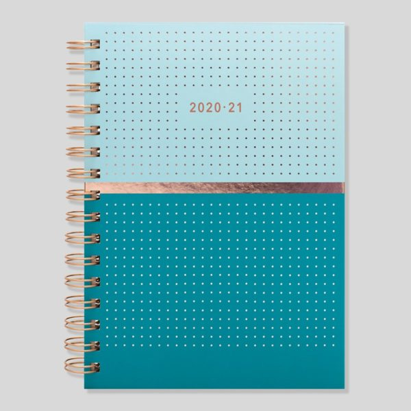 Matilda Myres 2020-21 Rose Gold Wiro A5 Weekly Mid Year Diary – Teal – MY105-02W