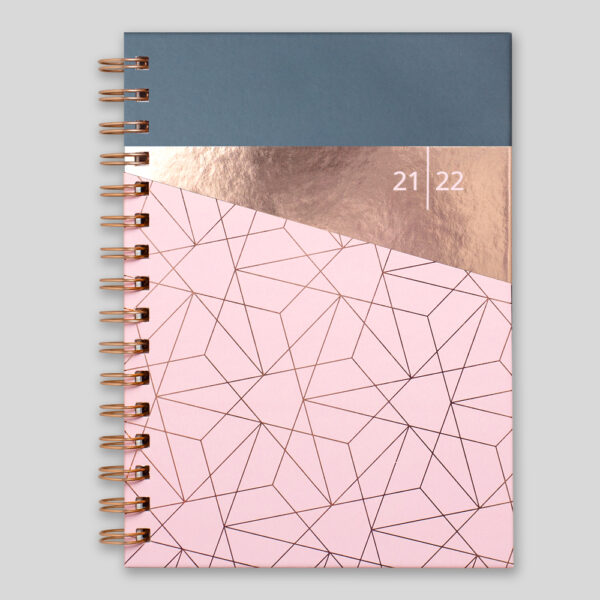 Matilda Myres 2021-22 Rose Gold Wiro Weekly Mid Year Diary – Pink - MY105-01W-RY