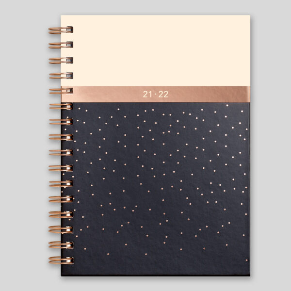 Matilda Myres 2021-22 Rose Gold Wiro Weekly Mid Year Diary – Black – MY105-03W