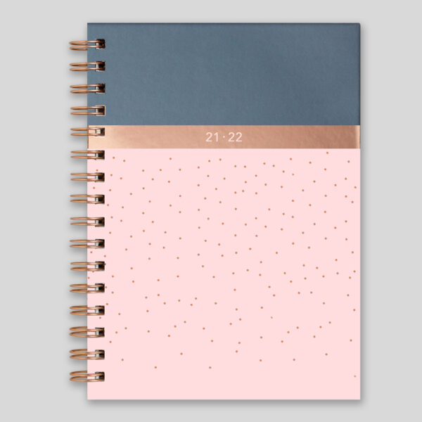 Matilda Myres 2021-22 Rose Gold Wiro Weekly Mid Year Diary – Pink – MY105-01W