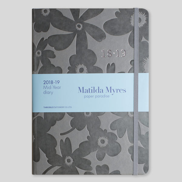 Matilda Myres 2018-19 Floral Soft Touch A5 Weekly Diary – MY100-01