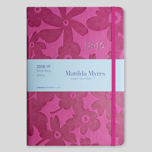 Matilda Myres 2018-19 Floral Soft Touch A5 Weekly Diary – MY100-03