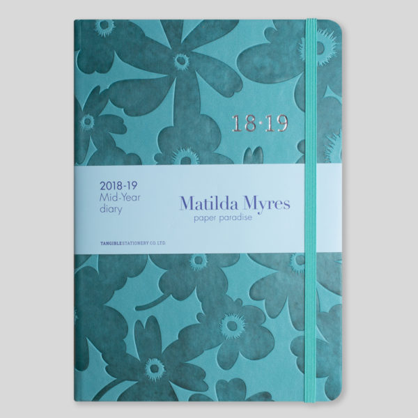 Matilda Myres 2018-19 Floral Soft Touch A5 Weekly Diary – MY100-02