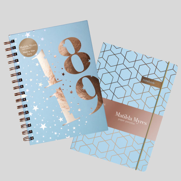 Matilda Myres 2018-19 Rose Gold Diary & Notebook – Mint
