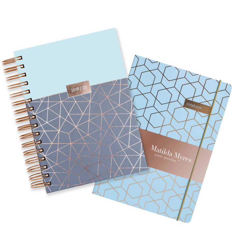 Blue 2019-20 Diary Gift Set