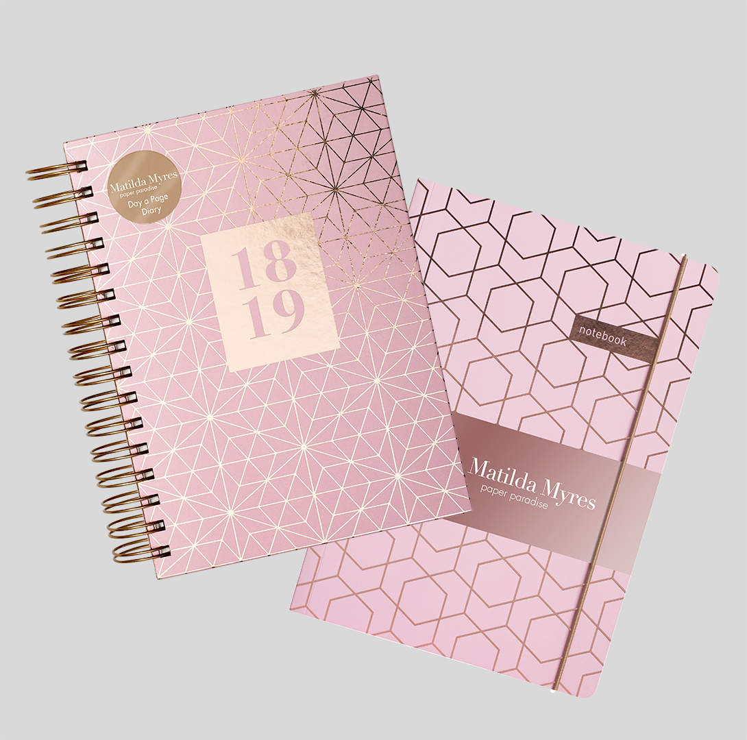 Diary gift set with notebook