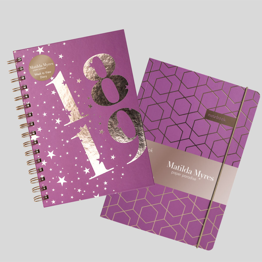 academic diary and notebook