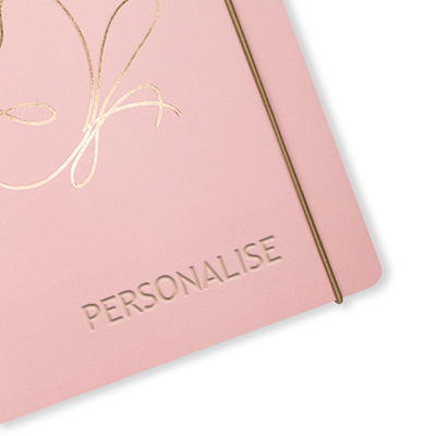 Rose Gold Name on Diary