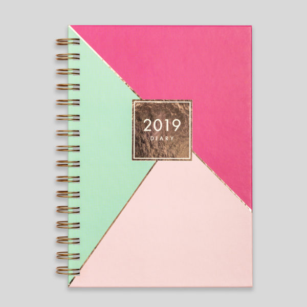 Matilda Myres 2019 Rose Gold Wiro Weekly Diary – MY115-02