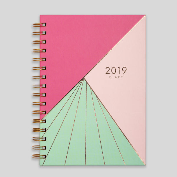 Matilda Myres 2019 Rose Gold Wiro Weekly Diary – MY115-02C