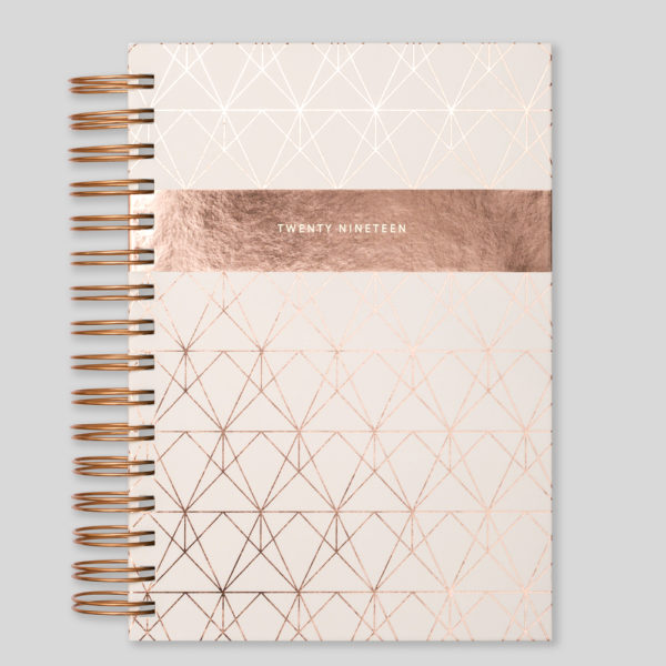 Matilda Myres 2019 Rose Gold Wiro A5 Daily Diary – Ivory – MY115-01C