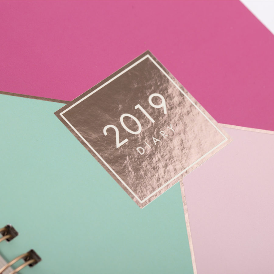 Detailed Foiling on Diary Cover