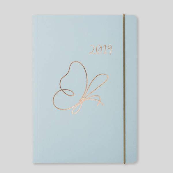 Matilda Myres 2019 Rose Gold Butterfly A5 Weekly Diary – MY120-02