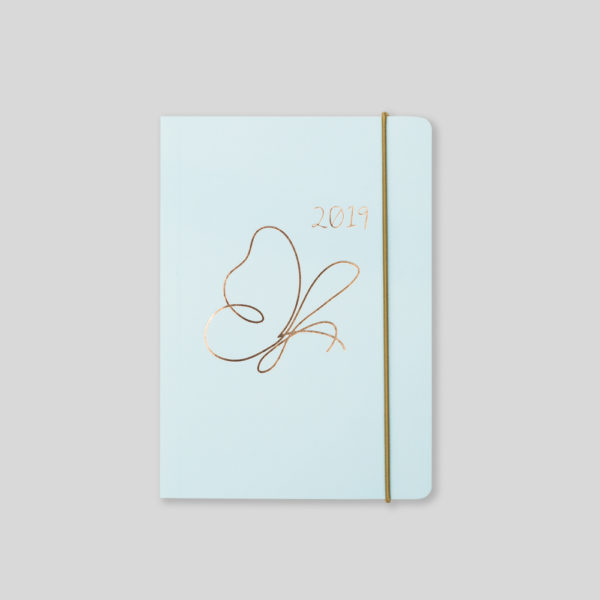 Matilda Myres 2019 Rose Gold Butterfly A6 Daily Diary – MY125-02