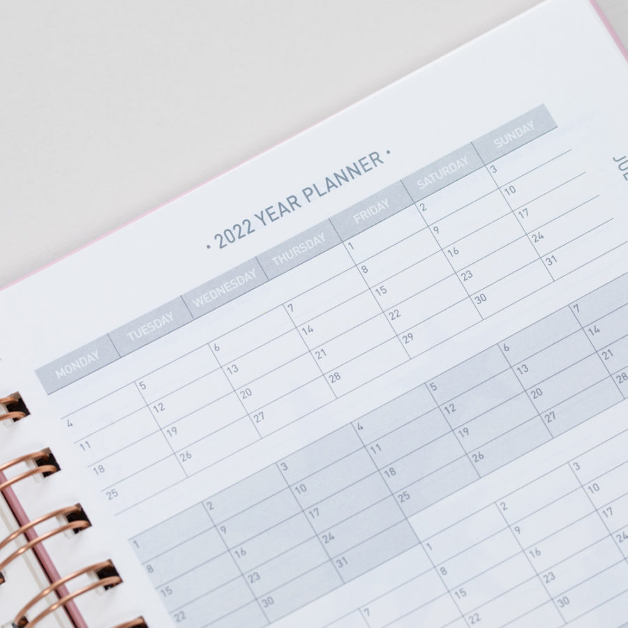 2021 A5 Weekly Diaries Year Planner