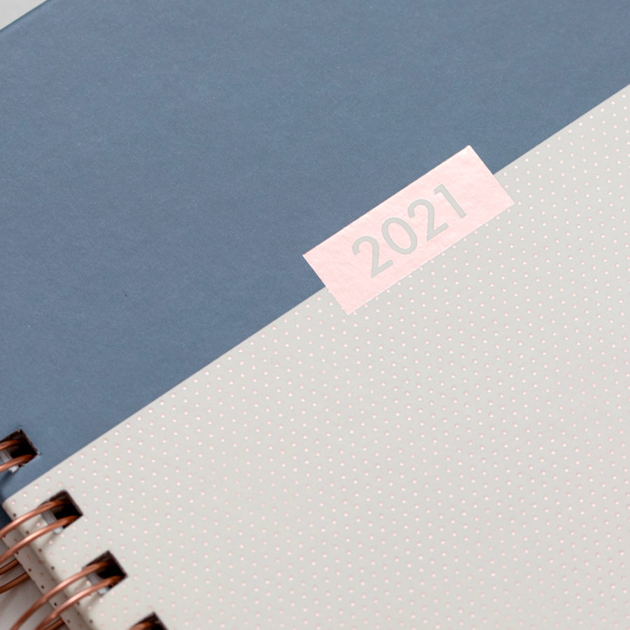 2021 A5 Rose Gold Diary Grey