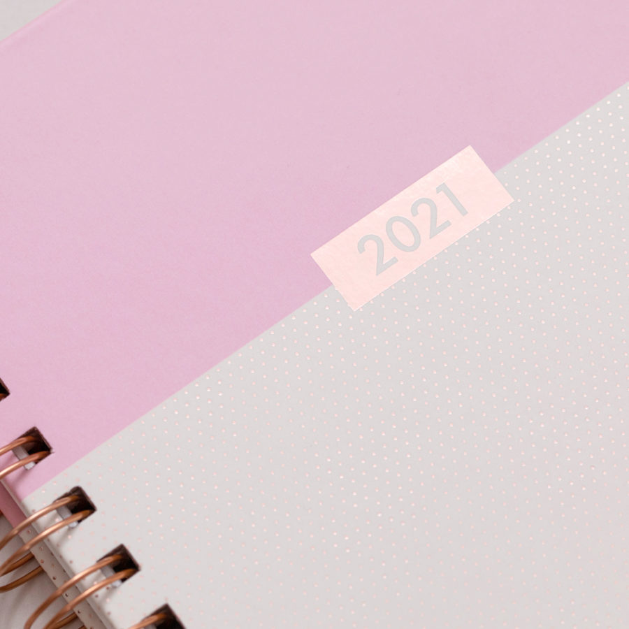 2021 A5 Rose Gold Diary Pink