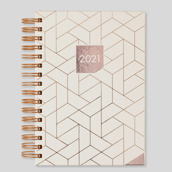 Matilda Myres 2021 Rose Gold Wiro A5 Daily Diary – Ivory – MY115-03D