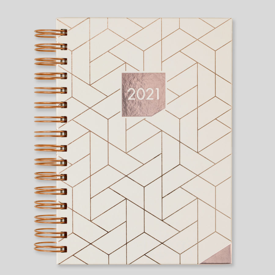 2021 Matilda Myers Day Diary A5 Ivory