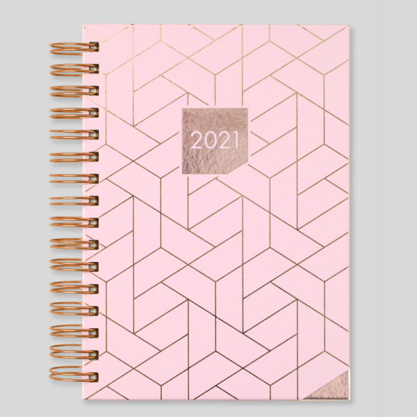 Matilda Myres 2021 Rose Gold Wiro A5 Daily Diary – Pink – MY115-01D